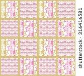 patchwork seamless pattern... | Shutterstock . vector #316416581