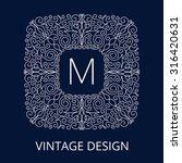 luxury vintage monogram for... | Shutterstock .eps vector #316420631