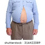 senior man with big fat stomach.... | Shutterstock . vector #316422089