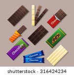 chocolate bars icons in flat... | Shutterstock .eps vector #316424234