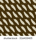ethnic pattern with feathers | Shutterstock .eps vector #316433405
