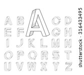 impossible font set from a to z ... | Shutterstock .eps vector #316433495