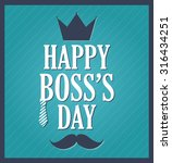 boss day greeting template.... | Shutterstock .eps vector #316434251