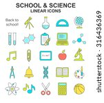 school and science colored... | Shutterstock .eps vector #316436369