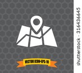 vector icon of map pointer on...