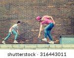 skateboarder  boys by  brick... | Shutterstock . vector #316443011