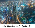 panorama of night dubai during... | Shutterstock . vector #316444121