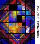Hi-Res Mondrian Style Variation - stock photo