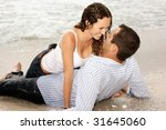 beautiful couple laying on the... | Shutterstock . vector #31645060