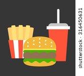 vector junk food flat design | Shutterstock .eps vector #316450631