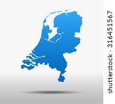 map of netherlands | Shutterstock .eps vector #316451567