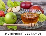 Apples With A Bowl With Honey...