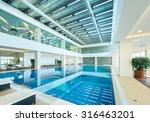 indoor swimming pool in healthy ... | Shutterstock . vector #316463201