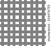 repeating black and white weave ... | Shutterstock .eps vector #316476755
