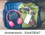 clothing traveler's passport ... | Shutterstock . vector #316478267