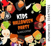 funny halloween party design... | Shutterstock .eps vector #316479521