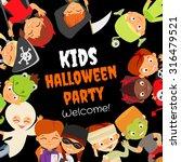 funny halloween party design... | Shutterstock .eps vector #316479521