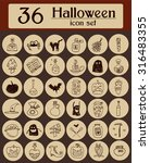 set of halloween icons. hand... | Shutterstock .eps vector #316483355