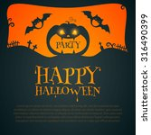 halloween party design template ... | Shutterstock .eps vector #316490399