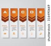 design clean number banners... | Shutterstock .eps vector #316490669