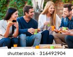 spending good time with friends.... | Shutterstock . vector #316492904