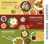 asian street food web banner  ... | Shutterstock .eps vector #316493951