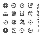 time and clock icon set  vector ...