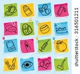 hand drawn diabetes sketches on ... | Shutterstock .eps vector #316501211