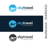 sky travel agency logo template | Shutterstock .eps vector #316501421