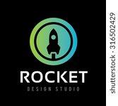 rocket logo vector logo template | Shutterstock .eps vector #316502429