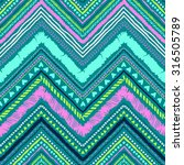 seamless tribal zigzag pattern... | Shutterstock .eps vector #316505789