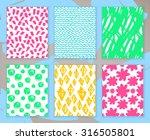 set of hand drawn marker doodle ...   Shutterstock .eps vector #316505801