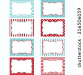 red and aqua printable labels... | Shutterstock .eps vector #316506059