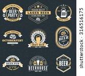 set of retro vintage beer... | Shutterstock .eps vector #316516175