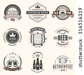 set of retro vintage beer... | Shutterstock .eps vector #316516319