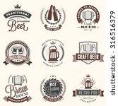 set of retro vintage beer... | Shutterstock .eps vector #316516379