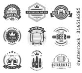 set of retro vintage beer... | Shutterstock .eps vector #316516385