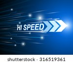 hi speed network digital... | Shutterstock .eps vector #316519361