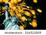 statue of liberty  double... | Shutterstock . vector #316521839
