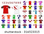 colorful soccer jersey set.... | Shutterstock .eps vector #316523315