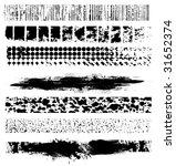 7 grunge line elements vector | Shutterstock .eps vector #31652374