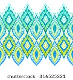 beautiful seamless ikat border. ... | Shutterstock . vector #316525331