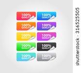 100  quality labels set | Shutterstock .eps vector #316525505