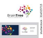 brain tree logo template.   Shutterstock .eps vector #316525715