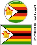zimbabwean round and square... | Shutterstock .eps vector #316526105