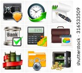 set of icons for business info... | Shutterstock .eps vector #316533509