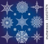 Snowflake Big Set Silhouette...