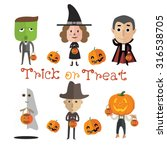 happy halloween | Shutterstock .eps vector #316538705