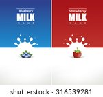 milk design with strawberry and ... | Shutterstock .eps vector #316539281