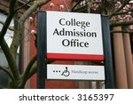 college admission office sign | Shutterstock . vector #3165397